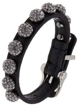 ABS by Allen Schwartz Leather Wrap Cuff With Pave