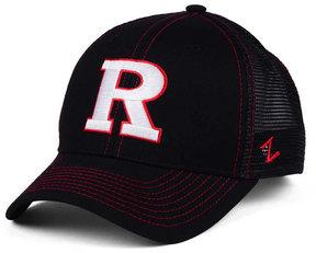 Zephyr Rutgers Scarlet Knights Staple Trucker Blackout Snapback Cap