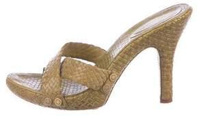 BCBGMAXAZRIA Woven Leather Sandals