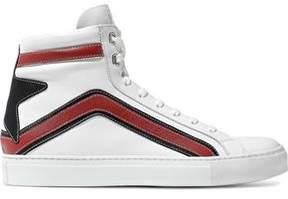 Belstaff Appliquéd Leather High-Top Sneakers