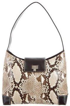 Lambertson Truex Python & Leather Shoulder Bag