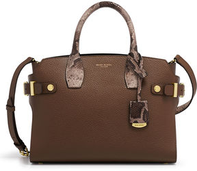 Henri Bendel Carlyle Mixed Snake Satchel