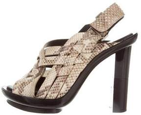 Calvin Klein Collection Python Slingback Sandals