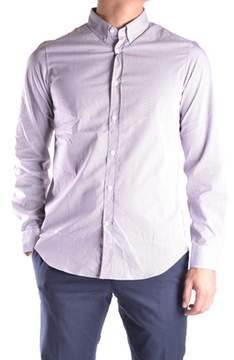 Mauro Grifoni Men's Purple Cotton Shirt.