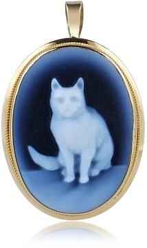 Del Gatto Cat Agate Cameo Pendant