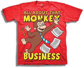 Freeze Curious George 'Monkey Business' Tee - Toddler