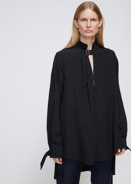 Aalto Black Strapped Long Shirt