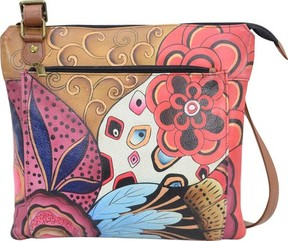 Anuschka Anna By ANNA by Hand Painted Multipocket Crossbody 8285 (Women's)