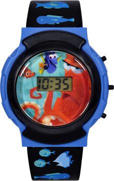 Disney Disney@Finding Dory Graphic Black Plastic Strap Flashing LCD Kids Watch