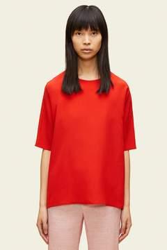Mansur Gavriel Silk Short Sleeve Blouse
