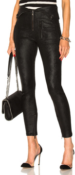 RtA Diavolina Leather Skinny in Black.