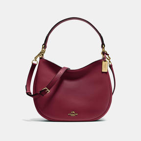 COACH Coach Nomad Crossbody In Glovetanned Leather - LIGHT GOLD/BURGUNDY - STYLE