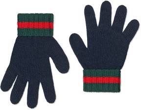 Gucci Children's wool gloves with Web