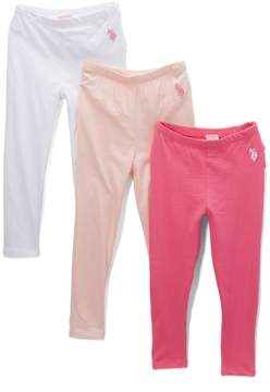 U.S. Polo Assn. Pink Ruffle-Accent Leggings Set - Toddler