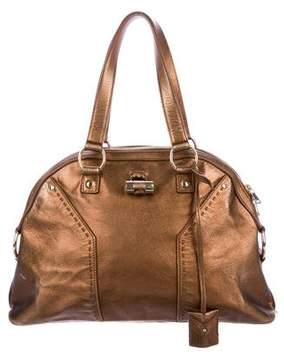 Saint Laurent Metallic Leather Muse Bag