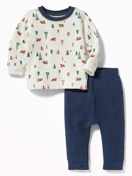 Old Navy Printed Sweatshirt & Fleece Pants Set for Baby