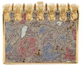 Judith Leiber Crystal-Embellished Box Minaudière