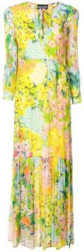 Moschino long floral print dress