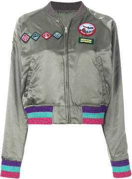 Diesel patch bomber jacket