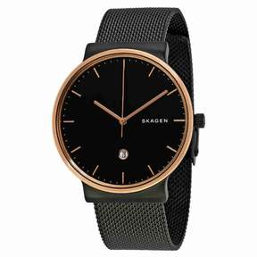 Skagen Ancher Black Dial Mesh Men's Watch SKW6296