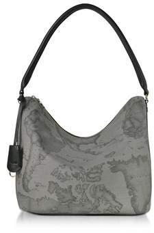 Alviero Martini Women's Grey Canvas Shoulder Bag.