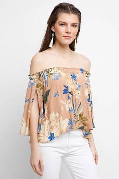 Astr Annabelle Off-Shoulder Floral Top