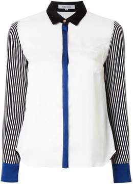 GUILD PRIME colour-block fitted blouse