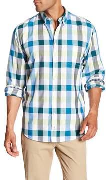 Ben Sherman Long Sleeve Checkered Print Regular Fit Shirt
