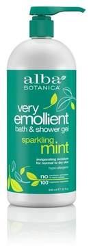 Alba Very Emollient Sparkling Mint Bath & Shower Gel 32oz