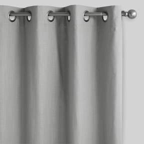 World Market Gray Harlow Grommet Top Cotton Curtains Set of 2
