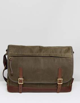 Fossil Defender Messenger Bag in Waxed Canvas