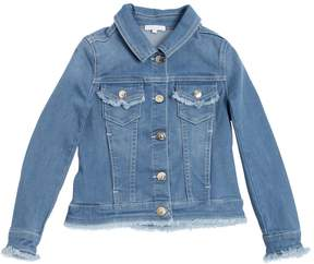 Chloé Stretch Denim Jacket W/ Raw Cut Edges
