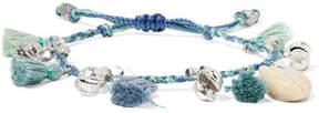 Chan Luu Tasseled Silver-tone And Shell Bracelet - Blue