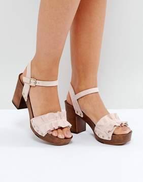 Faith Dani Ruffle Heeled Sandals