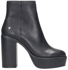 Windsor Smith Black Leather Ankle Boots