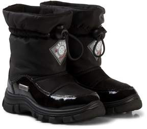 Naturino Black Varna Waterproof Suede and Nylon Boots