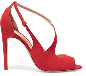 Rupert Sanderson Jewel Suede Sandals - Red