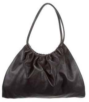 Gucci Ruched Leather Hobo - BLACK - STYLE