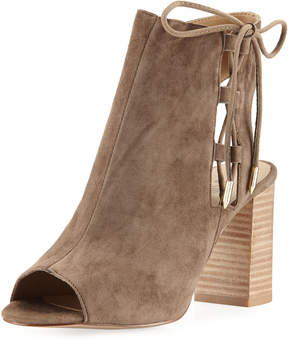 Neiman Marcus Bryana Lace-Up City Sandals, Brown