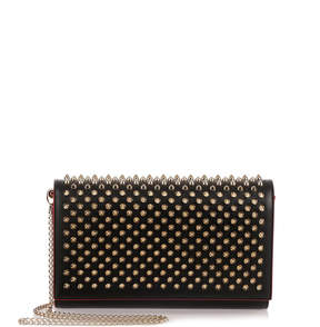 Christian Louboutin Paloma black spikes clutch