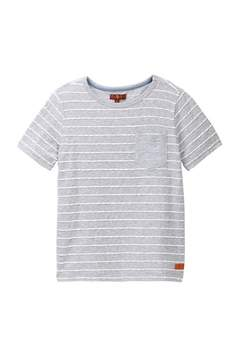 7 For All Mankind Striped Crew Neck Tee (Big Boys)