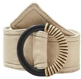 MANGO Wood buckle belt