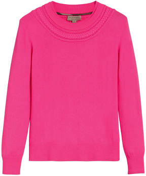 Burberry cashmere cable knit sweater