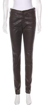 Adriano Goldschmied Faux Leather Mid-Rise Pants
