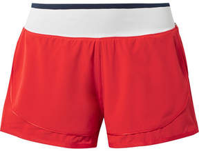 adidas by Stella McCartney Climastorm Hiit Striped Layered Stretch Shorts