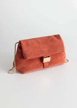 And other stories Small Leather Fold-Over Bag
