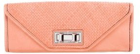 Rebecca Minkoff Woven Leather Clutch - PINK - STYLE