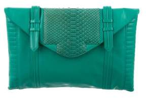 Reece Hudson Python-Accented Bowery Clutch