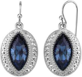 1928 Textured Marquise Drop Earrings