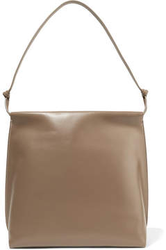 The Row Wander Leather Shoulder Bag - Mushroom